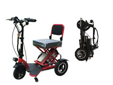 Folding Portable Electric tricycle Travel Home Mobility Elderly Foldable Scooter