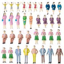 Lot 50pcs Model Train Men Women People Painted Figures Passenage 1/30 Scale