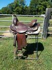 "Circle Y Equitation Saddle 15.5"" Dark Oil"