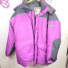 Vintage Obermeyer Heritage Puffer Ski Jacket with Hood Down Purple Mens XXL