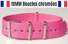 ★ 18MM ★ Bracelet Montre Watch Band Strap Nylon Nato Otan Militaire Army Bond