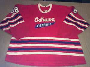 New Adult Xl CCM Oshawa Generals Eric Lindros Jersey OHL Red All Sewn Vtg 80s