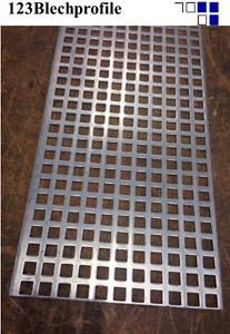 Alu-Lochblech 2mm Qg10-15 Blechzuschnitt  Blechstreifen Zuschnitt Alublech