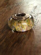 Authentic NEW Chamilia Murano Tan Green Orange Red Brown Glass Bead