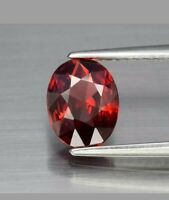 Granate 1.05 ct super limpio oval brillante rojo naranja natural de Madagascar