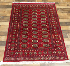 """4'2""""x6' New Hand knotted Silky Wool Royal Bokhara Tekkeh Oriental Area rug"""