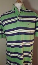 Mens Striped Tommy Hilfiger Polo Shirt Chest Large 42'' to 44'' Tall