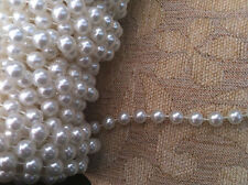 5  yds pearl beaded line/trims colorful size 6 mm
