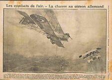 Combat Aérien Avion Aircraft Biplan Luftstreitkräfte Aviatik Saulnier 1915 WWI