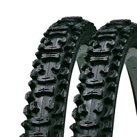 "2x KENDA SMOKE 26"" x 1.95 KNOBBLY MOUNTAIN BIKE MTB 26 INCH TYRES (1 PAIR)"