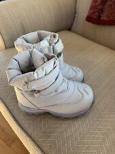 LL Bean Snow Boots Toddler Girls 9 Gray Boho Retro