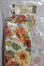 New Longaberger Long Serving Fabric Liner For Basket, Sunflower