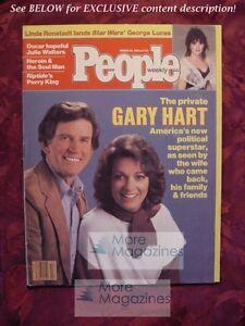 PEOPLE March 26 1984 3/84  GARY LEE HART Linda Ronstadt Julie Walters Perry King