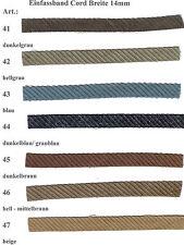 Schrägband, Webband, Einfassband Cord, Breite: 14 mm, Länge: 4 Meter
