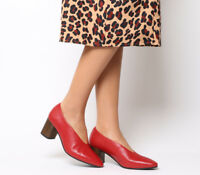 Womens Vagabond Eve Block Heels Red Heels