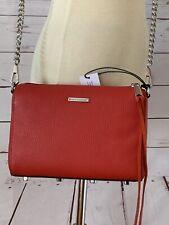 NWT $198 REBECCA MINKOFF Leather Mini 5 Zip Crossbody Bag Fire Engine Red