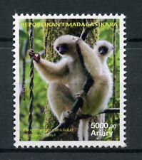 Madagascar 2014 MNH Silky Sifaka 1v Set Primates Monkeys Wild Animals Stamps