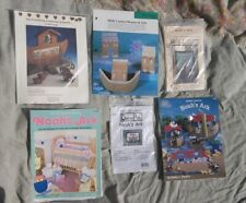Lot All Noah's Ark Baby Cross Stitch Quilting w/ Charms Figurine Patterns
