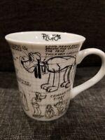 Walt Disney Mickey 90 Years Sketchbook Ceramic  Pluto Mug Coffee Cup New