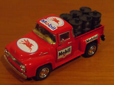 Custom Ford F-100 Mobil 1/43 scale ute with petrol drums diecast petroluem