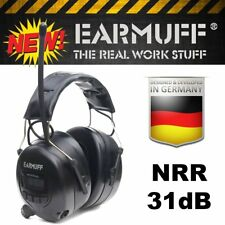 31dB WIRELESS HEADPHONES Digital AM FM Radio MP3 iPod Aux Protection Ear Muffs
