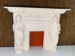Miniature Mart Ornate Cast Resin Fireplace Mantle - Artisan Dollhouse Miniature