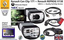 RENAULT OBD2 EOBD2 Diagnostic Tool 2017 CAN CLIP 171 REPROG 138 Full Chip A