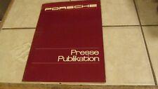 1978 Porsche Press Kit  German English Photos Paint Chart  Awesome