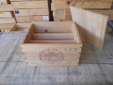 Caisse bois vin vide château d'Yquem avec séparateurs et couvercle
