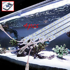 4X 50cm Waterproof Cool White 5630 Led Strip Lights Bars Camping Boat Car+Remote