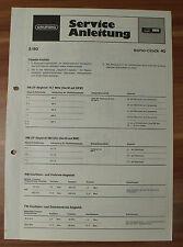 Dispositivo musicale sono-clock 40 Grundig Service Manual Istruzioni di servizio