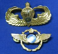 Vietnam War Chinese Airborne & Paratrooper Jump Wings Badges Lot Of 2