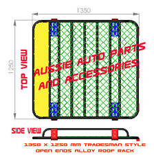 Tradesman style Open Ends  Alloy Roof Rack Cage 1350mm for TOYOTA FJ CRUISER