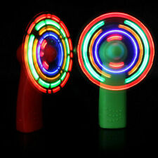 2pcs Light up LED Fans Colorful Mini Light up Fan Battery Operated for Household