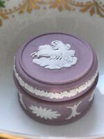 Wedgwood Jasper Ware Lilac Trinket Box Lidded Round Box Pot With Lid Lovely Rare