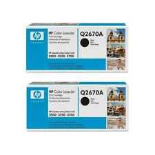 2x HP Toner Q2670A, 308A Black, Color LaserJet 3500, 3550, 3700, OVP-B (np)