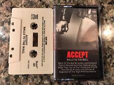 Accept Balls To The Wall Cassette! Judas Priest Halloween Saxon Running Wild