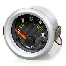 Voltmètre voltanzeige volts Batterie affichage instrument supplémentaire 52mm Carbon Optique