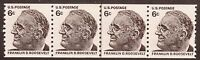 4 USA US Post Postage Stamps 1967 Scott# 1298  Roosevelt Joint line pair MNH