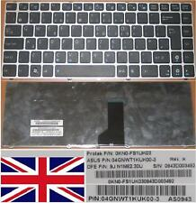 CLAVIER QWERTY UK ASUS UL30 UL30A UL30VT Silver frame 9J.N1M82.30U 0KN0-FS1UK03