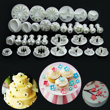 New 33Pcs Fondant Cake Decorating Sugarcraft Plunger Cutter Tools Mould Cookies
