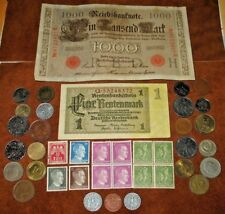 GERMAN NAZI COINS WITH SWASTIKA! GERMANY STAMPS & BANKNOTES! WORLD COINS! (3b)