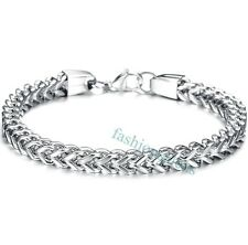 Silver Tone Stainless Steel Wheat Link Chain Men's Boy's Bracelet New