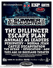 "DILLINGER ESCAPE PLAN 2013 PORTLAND ""SUMMER SLAUGHTER TOUR"" POSTER"