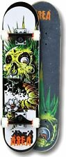 Skateboard AREA Monster Eye ABEC 7 beide Seiten gedruckt Komplett Board