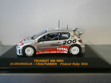 PEUGEOT 206 WRC RALLY FINLANDIA 2002 GRONHOLM ALTAYA IXO 1:43