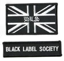 Heavy Metal Band Black Label Society Bls Fan Club City 2-Tab Set: Bls Uk Flag