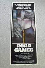 ROAD GAMES~ORIGINAL MOVIE POSTER~INSERT~1981~STACY KEACH & JAMIE LEE CURTIS