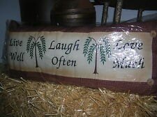 DECORATIVE COUNTRY SCATTER CUSHION LIVE LOVE LAUGH