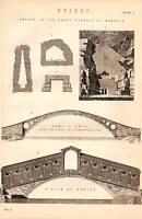 1868 Aufdruck ~Brücke~ Pont Y Pryd Rilto Auf Venedig Bögen IN The Groß Pyramid